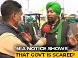 "Video : ""NIA Notice Shows Government Is Scared"": Farmer Leader Tells NDTV"