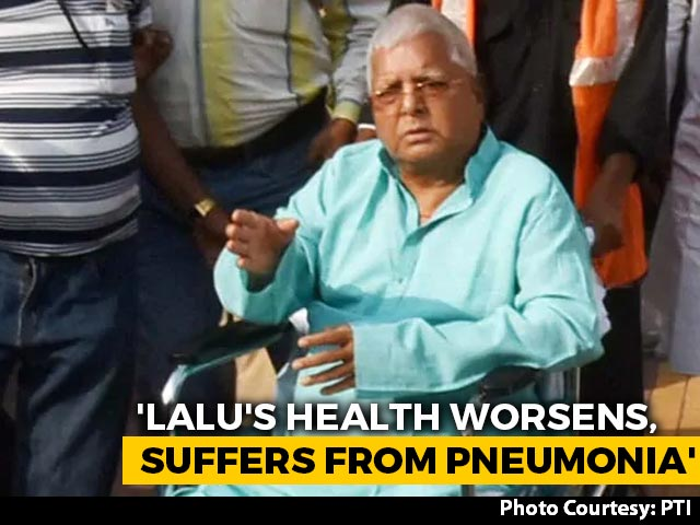 Video : Lalu Yadav Likely To Be Shifted To Delhi AIIMS As Health Worsens