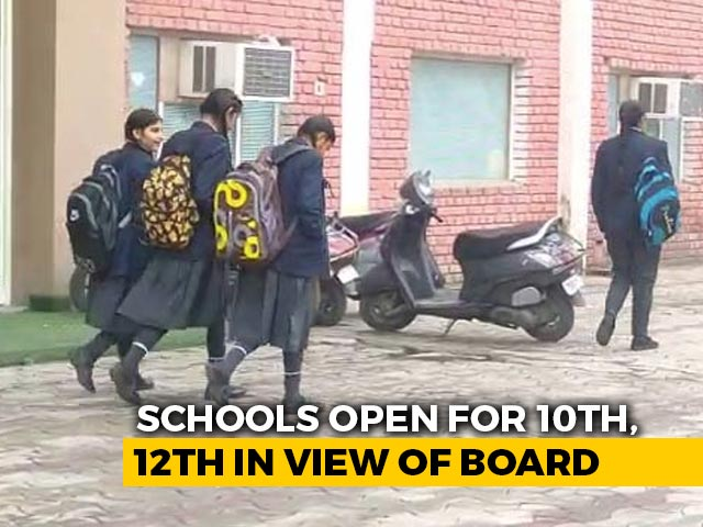 Video : Delhi Schools Reopen Today For Classes 10, 12