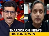 "Video : Shashi Tharoor Describes India's Win At The Gabba With ""Word Of The Day"""