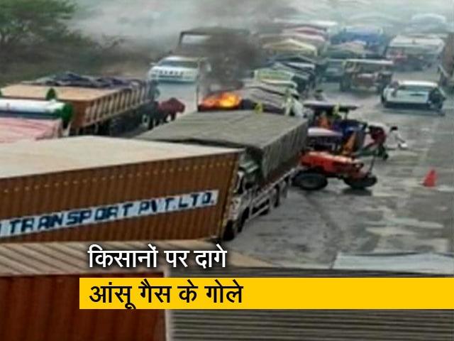 Video : खेड़ा बॉर्डर पर किसानों ने बैरीकेड तोड़ दिल्ली कूच करने का प्रयास किया