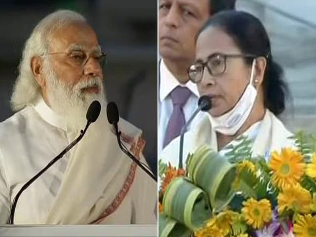 "Video : In PM vs Mamata Banerjee Over Netaji, Chants Of ""Jai Shri Ram"""