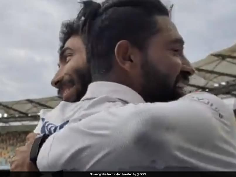 Australia vs India, 4th Test: Mohammed Siraj Gets A Warm Hug From Jasprit Bumrah, Praise On Social Media For Maiden Five-Wicket Haul. Watch thumbnail
