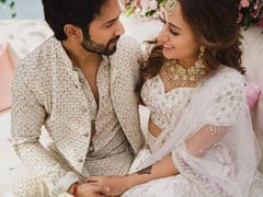 Varun And Natasha In A Dreamy Pic From Mehndi Ceremony