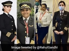 """Made Country Proud"": Rahul Gandhi On Air India's All-Women Crew"