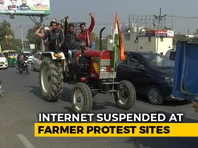 Video : Farmers From Other States Join Protest At Delhi-UP Border