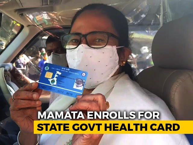 """Video : """"I Am A Commoner"""": Mamata Banerjee Queues Up For State Health Card"""
