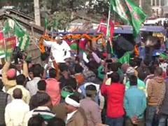 बिहार : कृषि कानूनों के विरोध में मधेपुरा में निकली ट्रैक्टर रैली