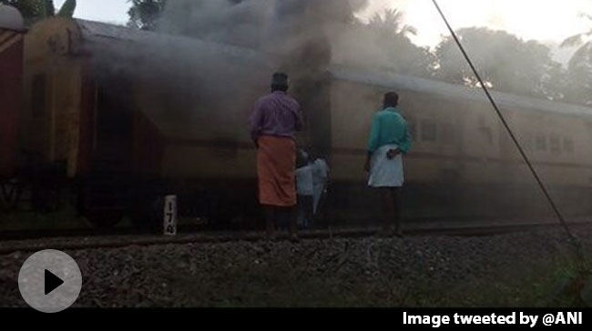 Video | Fire In Parcel Van Of Malabar Express In Kerala, None Injured