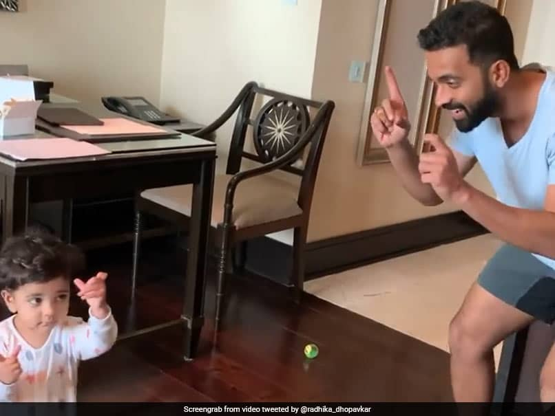 India vs England: Ajinkya Rahane Spends Day One Of Quarantine In Chennai Playing With Daughter