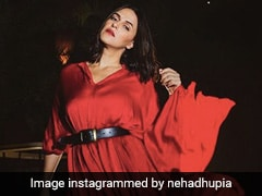 Neha Dhupia Is Bold And Beautiful In A Stunning Red Maxi