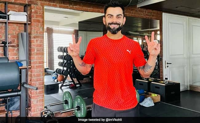 Virat Kohli shared pic from the gym showed the Victory sign with both hands fans speculated