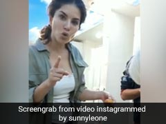 सनी लियोनी ने वैनिटी वैन में क्रू मेंबर संग जमकर खाए गोलगप्पे, देखें एक्ट्रेस का क्यूट Video