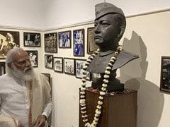 In Pics: PM Modi Pays Tribute To Subhas Chandra Bose At Netaji Bhawan