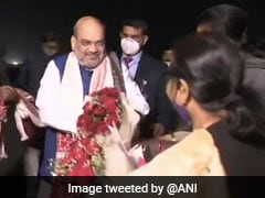 Amit Shah Arrives In Guwahati, To Hold Public Meetings On January 24