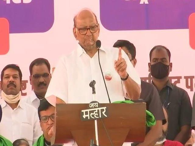 "Video : ""Governor Has Time To Meet Kangana Ranaut, But Not Farmers"": Sharad Pawar"