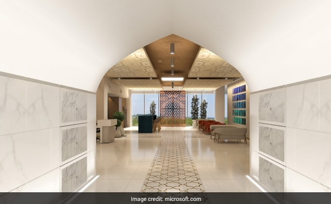 Not A Luxury Hotel, This Is Microsoft's Taj Mahal-Inspired Noida Office