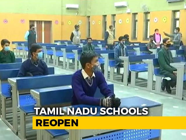 Video : Schools In Tamil Nadu To Resume Classes For 10, 12 Students Today