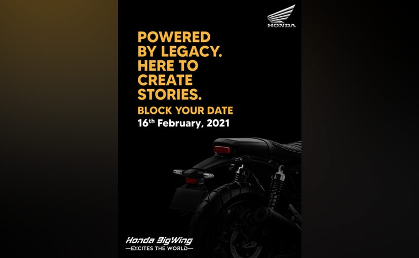The new Honda motorcycle will be revealed on February 16, 2021