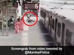 Mumbai Cop Saves Man Who Slipped Trying To Board A Moving Train. Watch