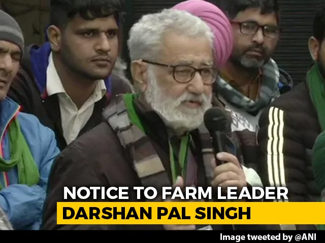 Video : Delhi Police Notice To Farmer Leader Darshan Pal Over Tractor Rally Violence