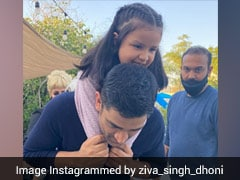 MS Dhoni, Daughter Ziva Captured In Adorable Pose. See Pic
