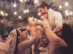 Inside Pic From Varun Dhawan And Natasha Dalal's <I>Jaimala</I> Ceremony