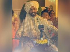 Viral: Varun Dhawan's <I>Filmy</i> Entry On A Quad Bike At His Wedding. Pics Here