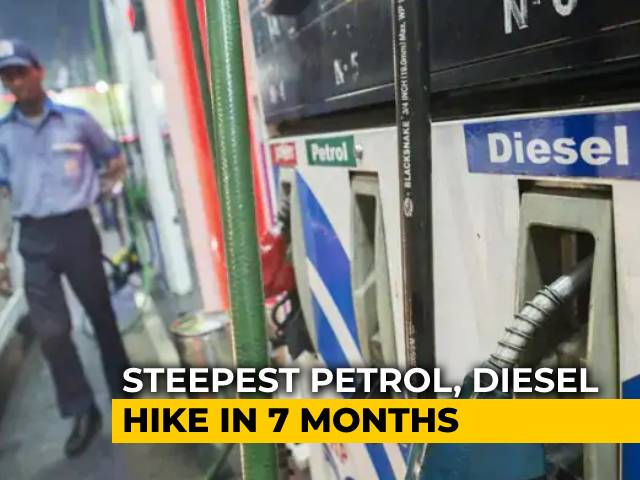 Video : India Sees Steepest Hike Of  35 Paise In Petrol, Diesel Rates On Republic Day