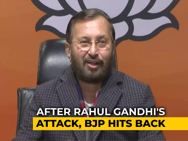 "Video : ""Rahul Gandhi Did Not Answer Any Questions"": BJP Hits Back"