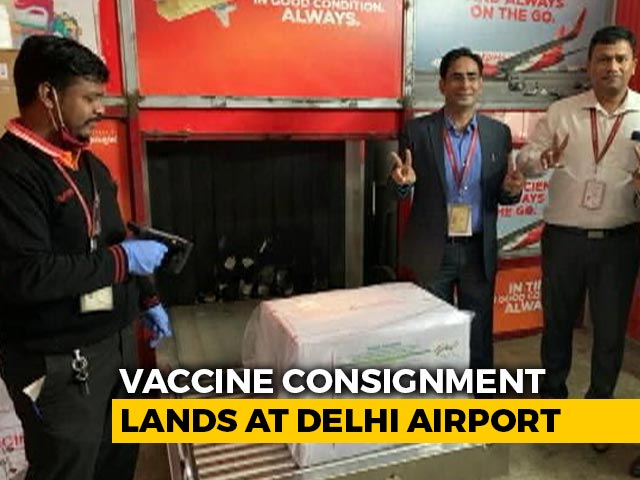 Video : First Batch of Vaccine Consignment From Serum Institute Arrives In Delhi