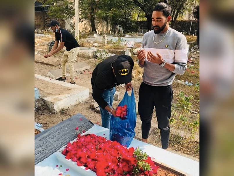 Mohammed Siraj Goes To Fathers Grave Immediately After Landing In Hyderabad