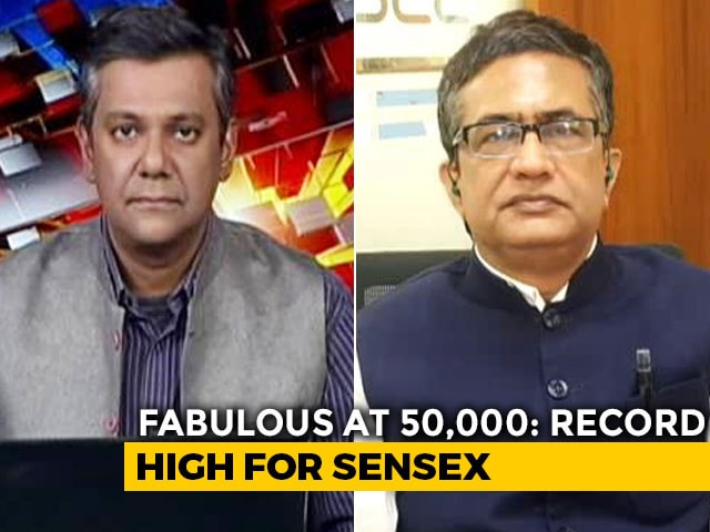 Video : BSE Chief Talks About India's Economy As Sensex Hits 50,000-Mark For First Time