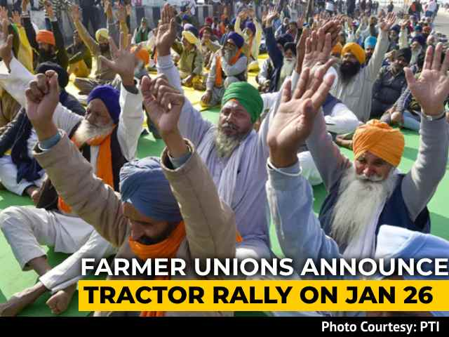 """Video : This Republic Day, Protesting Farmers Promise """"<i>Kisaan</i> Parade"""" In Delhi"""