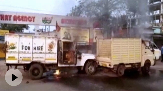 Video | Clash At BJP Party Offices In Bengal, Vehicles Set On Fire