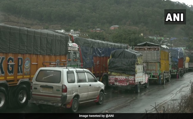 Jammu-Srinagar Highway Closed After Road Patch Caves In Near Ramban