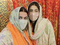 Sara And Mom Amrita Singh, Twinning In Green, Visit Ajmer Sharif Dargah
