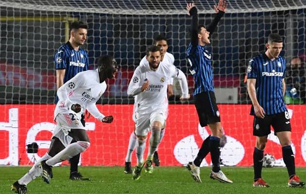 Champions League: Mendy Winner Puts Madrid In Driving Seat vs Atalanta