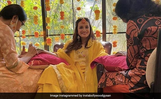 ICYMI: Trending Pics From Newlywed Dia Mirza's Mehndi Ceremony - NDTV