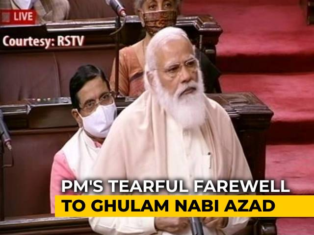 Video : PM's Tearful Farewell To Ghulam Nabi Azad In Parliament