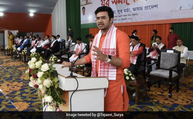 'Congress A Stooge, AIUDF Supports Mughals': BJP's Tejasvi Surya In Assam