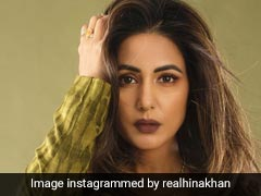 Hina Khan's Stylish Power Dressing Series Continues In An Olive Green Set
