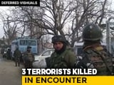 Video : 3 Terrorists, 1 Policeman Killed In Separate Encounters In Jammu And Kashmir