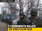 Video : 3 Terrorists, 1 Policeman Killed In Separate Encounters In Jammu And Kashmir