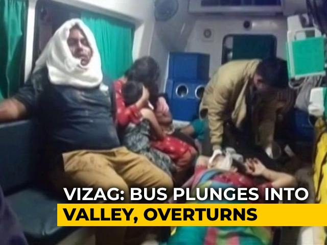 Video : 4 Dead After Bus Falls Into 200-Foot Gorge In Visakhapatnam