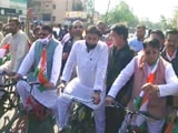 Video : Madhya Pradesh Congress MLAs Ride Bicycles In Protest Against Fuel Prices