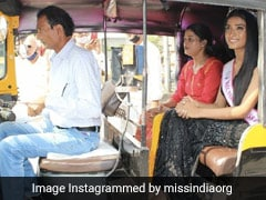 सिर पर ताज-हाथ में तिरंगा लिए पिता के ऑटो में बैठकर समारोह में पहुंचीं मिस इंडिया रनर अप मान्या सिंह, सादगी को लोग कर रहे सलाम