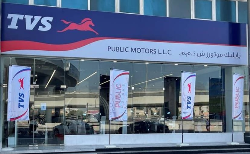 TVS has signed an agreement with UAE's Public Motors, with a dealership in Dubai