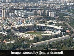 """""""Caught Fleeting View Of Interesting Test"""": PM Narendra Modi Shares Chepauk Pic"""