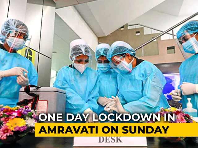 Video : Covid Figures Moving Up, Maharashtra Declares A Day's Lockdown In Amravati